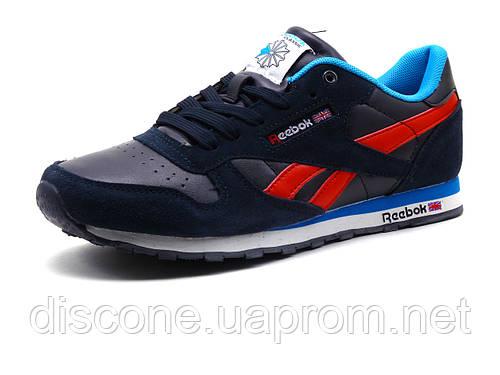Кроссовки Reebok Classic Jogger мужские темно-синие/замшевые вставки/ красный шнурок