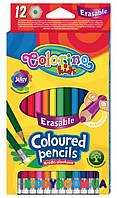Карандаши цветные Colorino с ластиком 12 цветов 92531PTR
