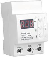 Реле напряжения ZUBR D32t для защиты электросети всего дома или квартиры