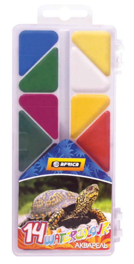 """Фарби акварельні """"Africa"""" 14 кольорів (E60113)"""