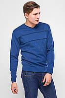 """Р-ры М-Л, Легкий свитер мужской """"Стас"""" с V-образным вырезом синий, индиго, бордовый"""