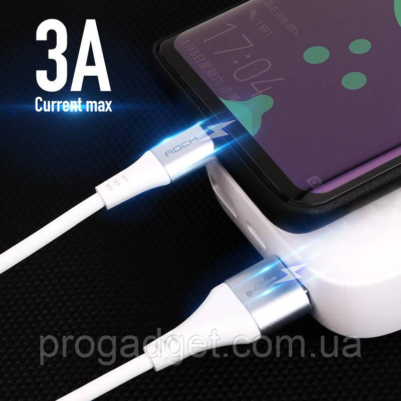 ROCK 3А typeС data cable 1 м кабель USB-USB type C Ток заряда  до 3А