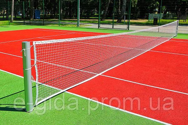 Сітка для великого тенісу ПП40х40х2.2 сетка безузловая большой теннис