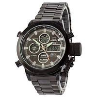 Мужские часы AMST Metall All Black, военные часы, армейские часы