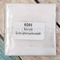 Полимерная глина Пластишка, №0201 белый флуоресцентный, 75 г / Полімерна глина Пластішка, №0201 білий флуорис.