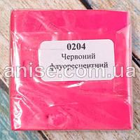 Полимерная глина Пластишка, №0204 красный флуоресцентный, 75 г / Полімерна глина Пластішка, №0204 червоний
