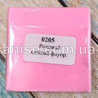 Полимерная глина Пластишка, №0205 светло розовый флуоресцентный, 75 г / Полімерна глина Пластішка, №0205 рожев