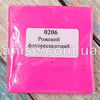 Полимерная глина Пластишка, №0206 розовый флуоресцентный, 75 г / Полімерна глина Пластішка, №0206 рожевий флуо