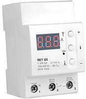 Реле контроля тока RET I25 для защиты электросети всего дома или квартиры