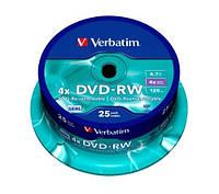 Диски Verbatim DVD-RW 4.7Gb 25pcs 43639