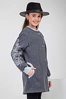 Кардиган на девочку с вышивкой Размеры 128 - 152