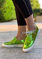 Кроссовки женские 6 пар в ящике зеленого цвета 36-40, фото 1