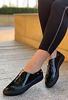 Кроссовки женские лаковые 6 пар в ящике черного цвета 36-40, фото 2