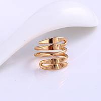 Кольцо покрытие позолотой  размер 16 (арт-11981)