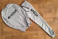 Спортивный костюм Venum, брендовый, серый