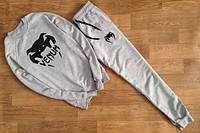 Спортивный костюм Venum, брендовый, на манжете, серый