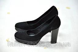 Туфли черные замшевые Donna Piu -760