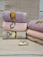 Кухонное полотенце махровое с красивым рисунком