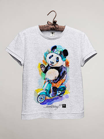 Футболка женская с принтом Панда