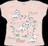 Детская футболка с принтом, хлопок (кулир-пинье), ТМ Ромашка+, р. 92, 98, Украина