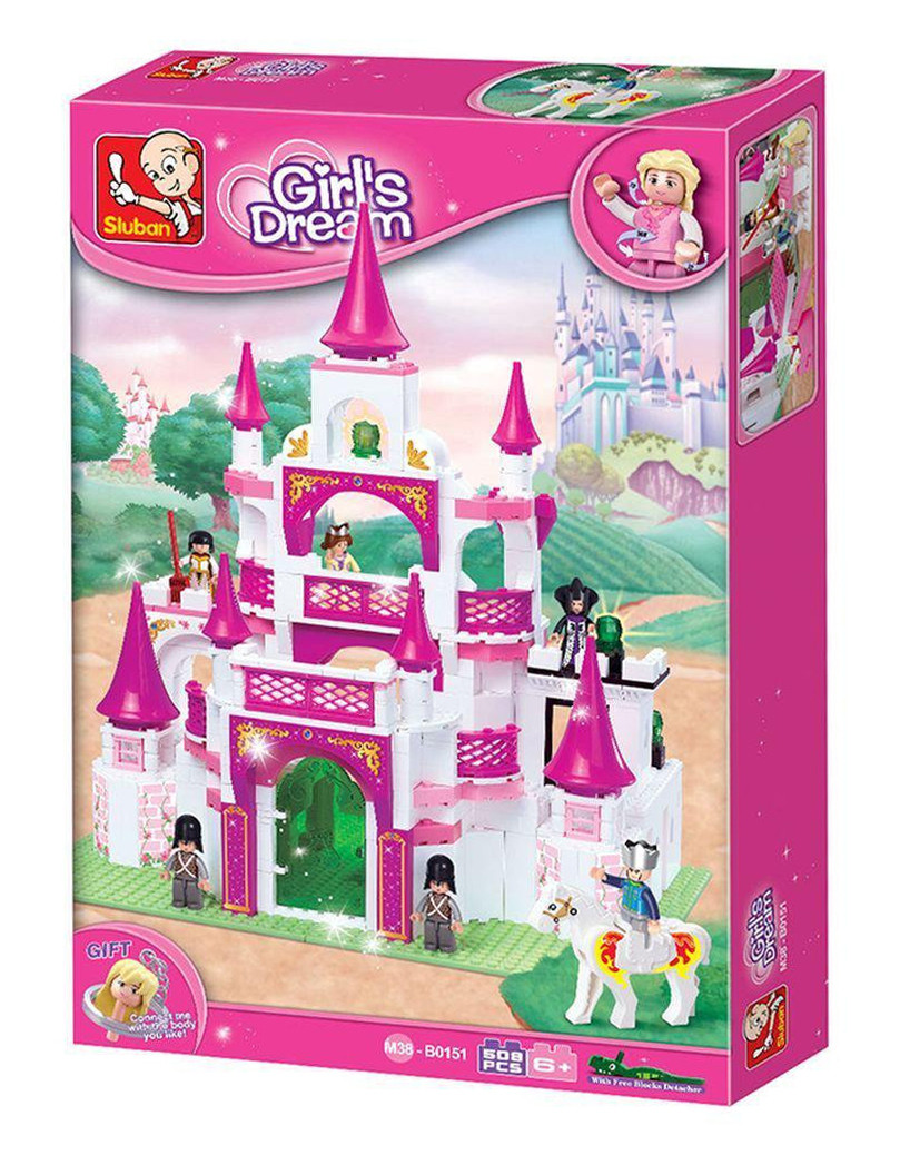Конструктор Sluban Розовая мечта M38-B0151 Замок принцессы