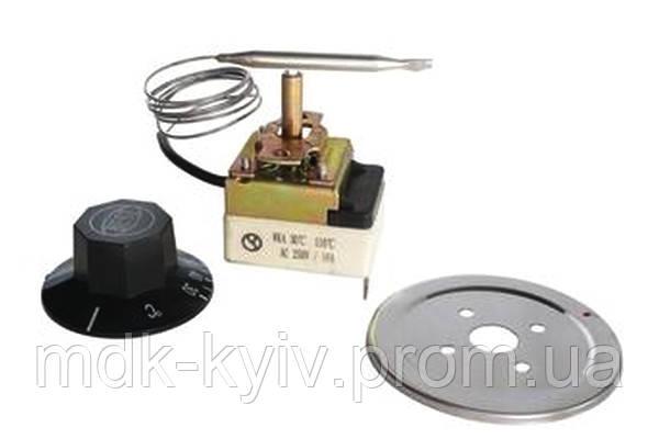 Капиллярный термостат WKA-30, диапазон регулирования 30...90°С, капилляр 600мм, зонд 100х6мм, нержавейка, AC 250V / 16A, 3-хполюсный