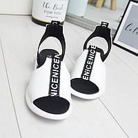 Повседневные женские сандалии кожаные с надписью tez742407