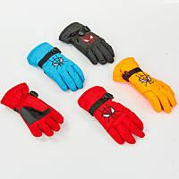 Перчатки горнолыжные теплые детские SPIDERMAN C-6572 (р-р M-L, L-XL, цвета в ассортименте, уп.-12пар, цена за 1пару)