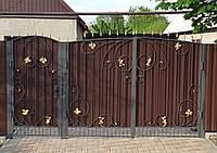 Кованые распашные ворота Econom