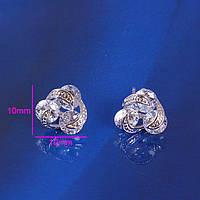 Серьги покрытие серебром  Артикул изделия: 20940