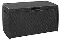 Ящик для хранения Storage Box Rattan серый, Keter