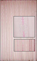 Тюль белая с розовым