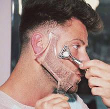 Мужская расческа шаблон для стайлинга бороды