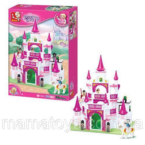Конструктор SLUBAN M38-B0151 Замок принцессы, фигурки, лошадь, 508 деталейРозовая мечта
