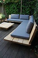 Садовая лаунж лавочка в стиле LOFT (NS-970001432)