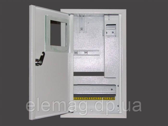 Шкаф под электронный  счетчик+16 автоматов накладной