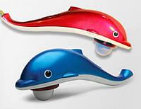 Массажер (вибромассажер) ручной Дельфин маленький Small Dolphin Massaser HK668 с 3 насадками