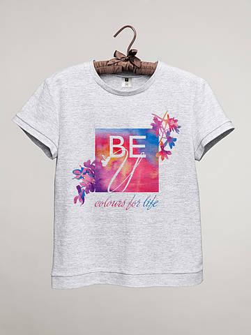 Футболка женская с принтом BEU (логотип)