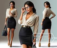 Короткое платье в виде юбки с блузкой
