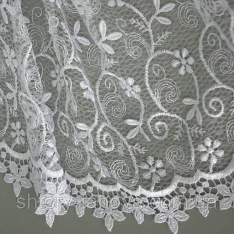Гард пол кружево вьюнок цветок белый
