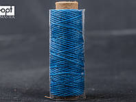 Нитка вощёная 1548-03 (плоский шнур), т. 0.8 мм, 50 м, цв. синий