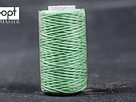 Нитка вощёная 1548-12 (плоский шнур), т. 0.8 мм, 50 м, цв. светло-зеленый
