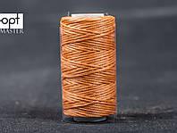 Нитка вощёная 1548-15 (плоский шнур), т. 0.8 мм, 50 м, цв. тропик