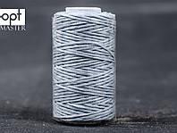 Нитка вощёная 1548-19 (плоский шнур), т. 0.8 мм, 50 м, цв. серый