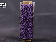 Нитка вощёная 1548-21 (плоский шнур), т. 0.8 мм, 50 м, цв. фиолетовый