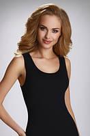 Женская классическая бельевая майка из хлопка черного цвета, модель Clarissa Eldar