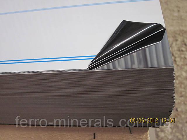 Нержавеющий лист 2х1000х2000мм, AISI 304 (08X18H10), ВА+РЕ