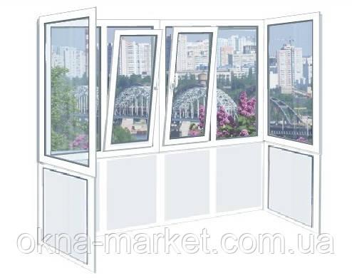 Балконы в Киеве ― французское остекление