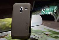 Чехол Nillkin для Samsung Galaxy Ace 2 I8160 коричневый (+пленка)