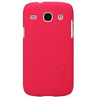 Чехол Nillkin для Samsung Galaxy Core I8262 / I8260 красный (+пленка)